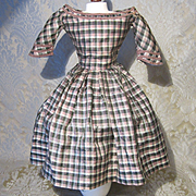 Period Antique Mode Enfantine Silk Dress for French Fashion