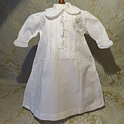 """Nightgown - Antique - For French Bebe of 19 - 20"""""""
