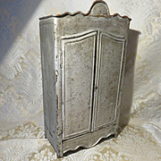 Unique French Tin Armoire in Doll Scale