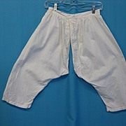 Antique bloomers pantaloons Victorian era