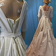 Vintage wedding gown 1950s Couture Bianchi of Boston