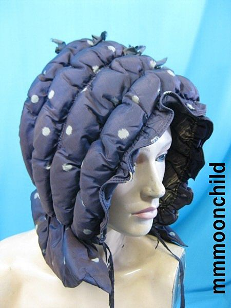 B2685 Antique hat bonnet Victorian Civil War era silk