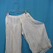 Antique Victorian figural  pantaloons bloomers 19 century Civil War era