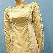Vintage 60s silk wedding gown Silk Priscilla of Boston B2616