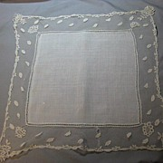 1281 Antique lace Wedding Hankie Handkerchief English HONITON BRIDAL