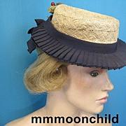 Vintage hat 1940s designer Henri Bendel tilt top