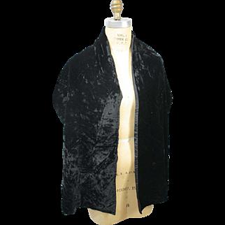 Vintage stole shawl 1940s velvet
