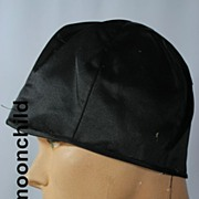 Vintage hat 1920s cloche black silk