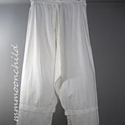 Antique Victorian Long Cotton Pantaloons HM4