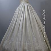 Antique Victorian Civil War era Silk Skirt HM14