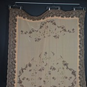 Vintage 1920s silk coverlet w lace insertions and embroidery full/queen