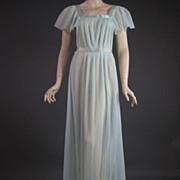 Vintage Aqua Glam nightgown PL5