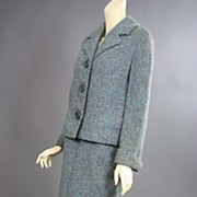Vintage ladies winter suit 1960s wool tweed