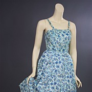 Vintage sun dress 1950s swing time Leslie Fay Original