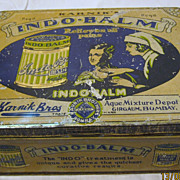 Indo Balm Tin -Circa Early 1900's