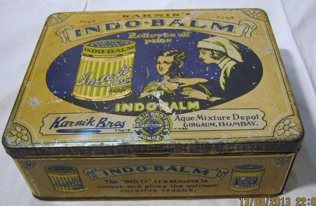Indo Balm Tin -Circa Early 1900's