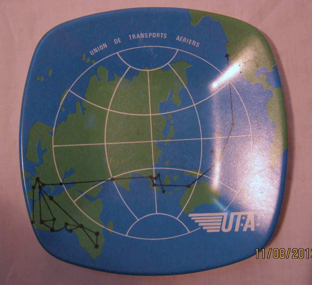 UTA Airlines Promotional Ashtray - Circa 1970
