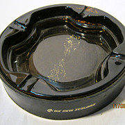 Air New Zealand Large Promotional Ashtray Circa -  1970