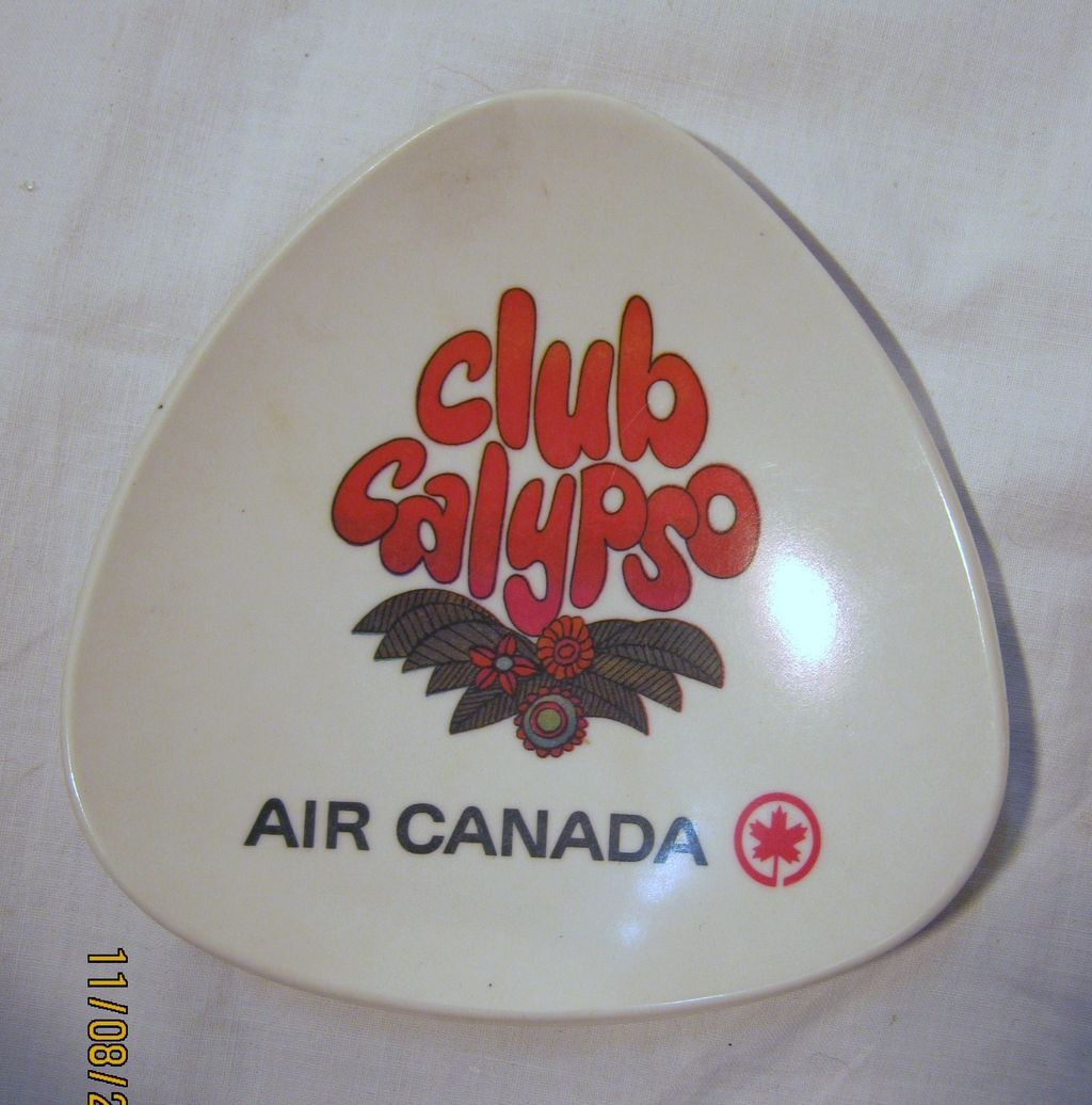 Air Canada Promotional Ashtray for Club Calypso - Circa 1965