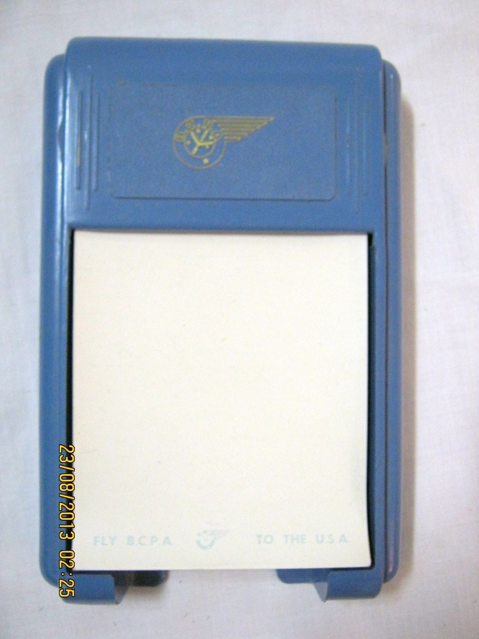 BCPA Airlines Promotional Note Pad Holder with Paper