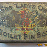 The Lady's Own Toilet Pin Tin -Circa Early 1900's.