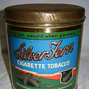 Silver Fern 1 lb Cigarette Tobacco Tin - Early 1900's