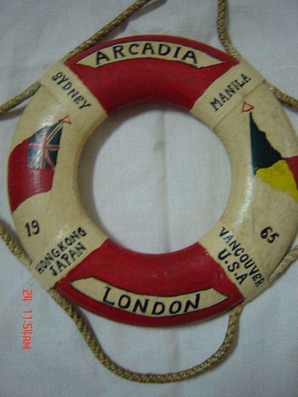 ARCADIA 1965 Souvenir Lifebuoy