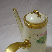 A Superb Hand Painted French Limoges  Porcelain Coffee Pot by Haviland  -1923
