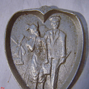 Naughty Risque Dutch Couple Ashtray - Early 1900's