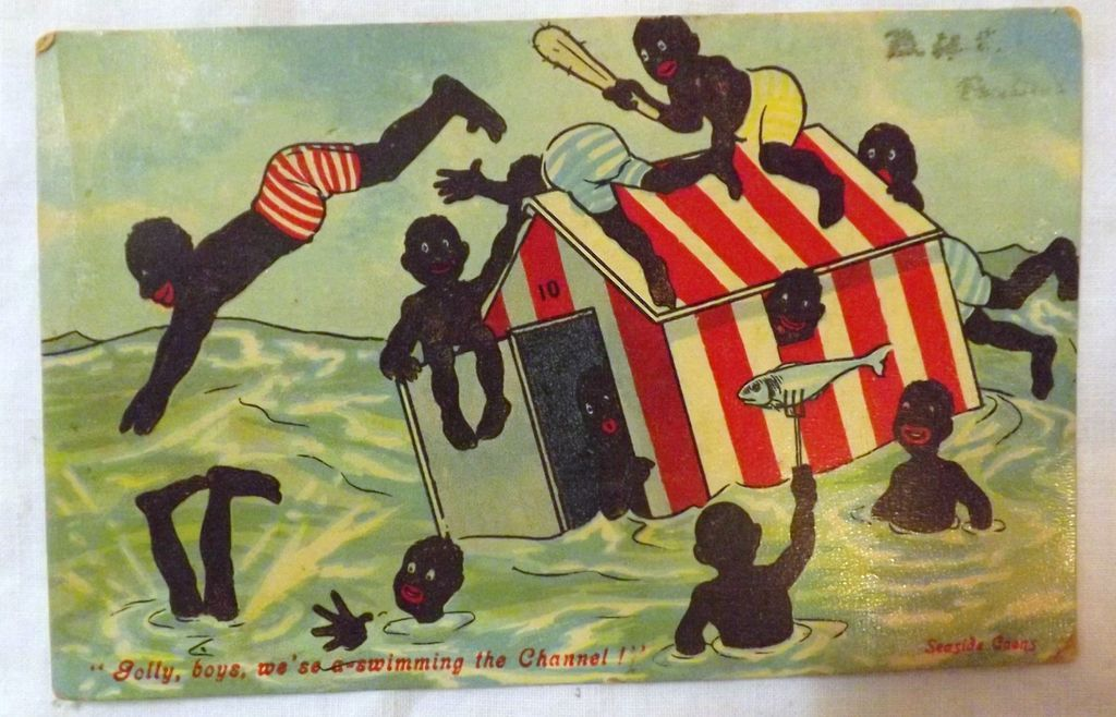Valentines 'Coon Series' 'Boys, we'se a-swimming The Channel'