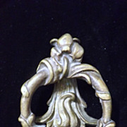 Art Nouveau Victorian Brass Door Knocker