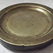RARE Georgian Pewter Warming Plate