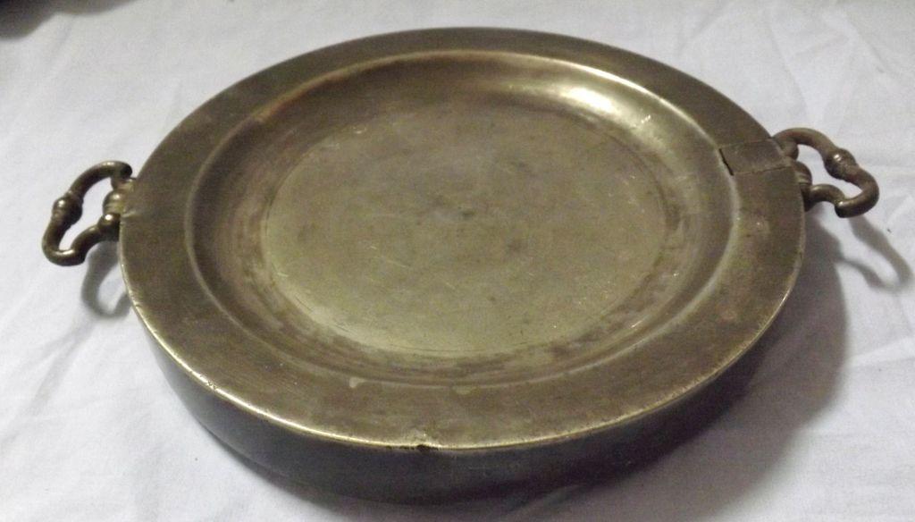 RARE Georgian Pewter Warming Plate