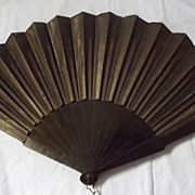 Victorian Mourning Fan