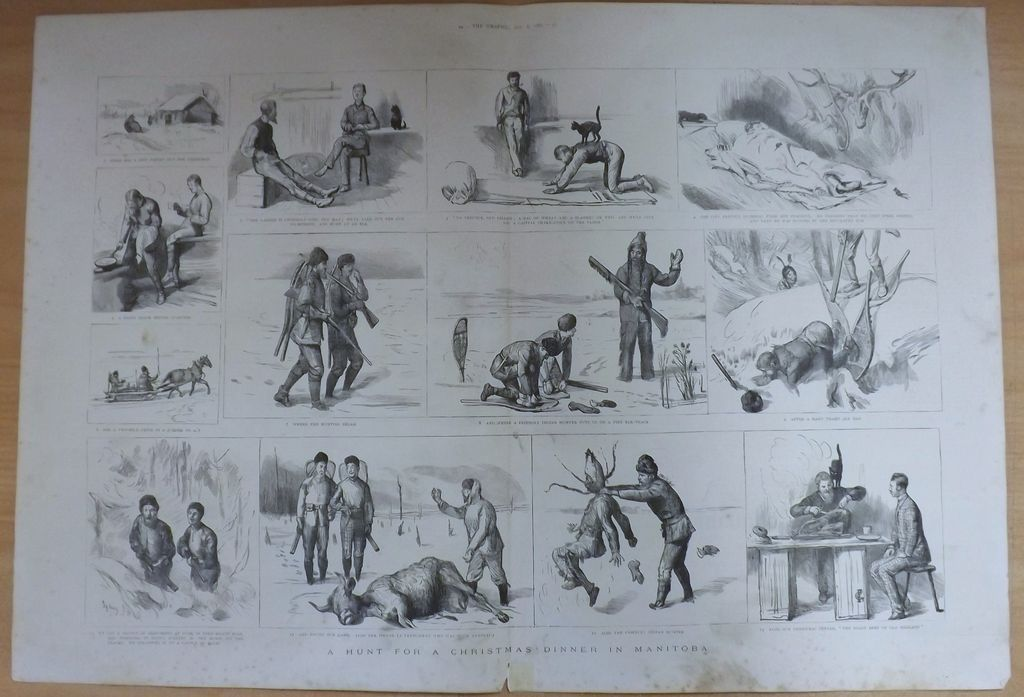 A Hunt For Christmas Dinner In Manitoba- The Graphic 1887