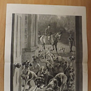 Unusual Visitors -The Graphic 1887 Double Page Spread