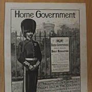 Home Government HUDSON'S Soap Advert -The Graphic 1887