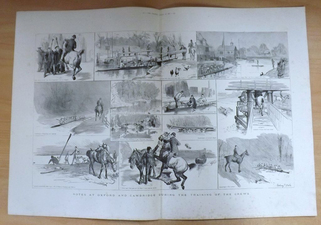 Oxford cambridge Boat Race - The Graphic 1887