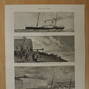 The Wreck Of The Channel Steamer Victoria -The Graphic 1887