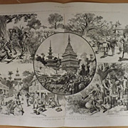Campaigning In Upper Burma -The Graphic 1887