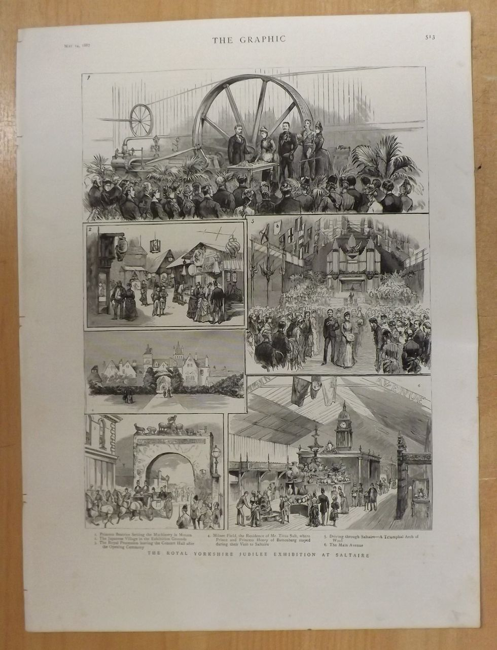Royal Yorkshire Jubilee  Exhibition - The Graphic 1887
