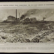 The Great War- Retreat From Armentieres -Illustrated London News 1918