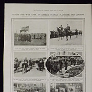 WWI 'Across The War Area'-Illustrated London News 1918