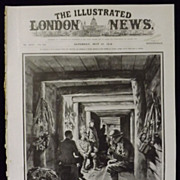 WWI -British Troops in  German Trench -Illustrated London News 1918