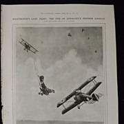 WWI -Von Richtofen's Last Fight -London Illustrated News 1918