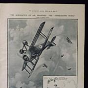 WWI - Acrobatics of  Air  Warfare -Illustrated London News 1918