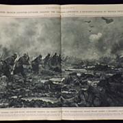 WWI - French Counter Attacks Western Front -Illustrated London News 1918