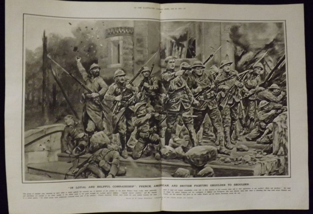WWI - 'In Loyal and Helpful Comradeship' -Illustrated London News 1918