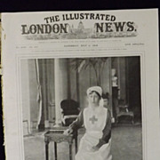 WWI - Princess Mary in Nurses Uniform - London Illustrated News 1918