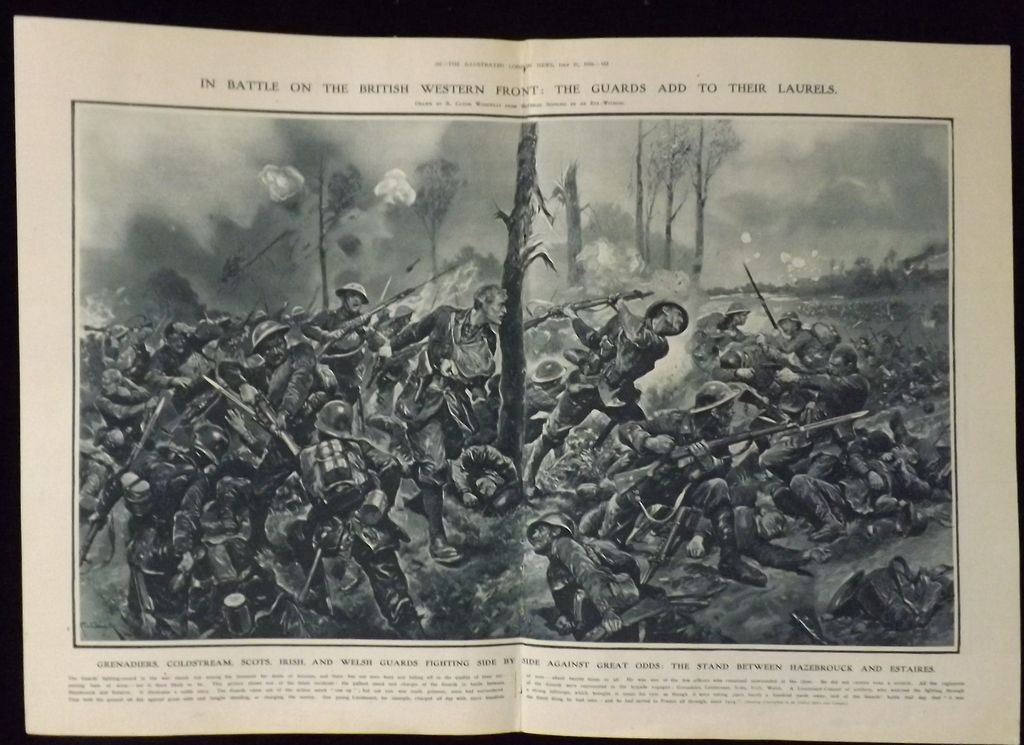 WWI - The Guards Add To Their Laurels - London Illustrated News 1918